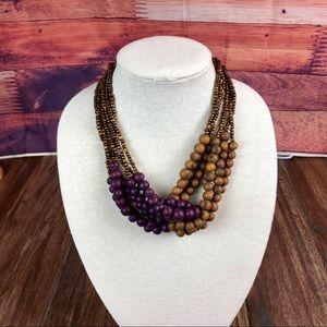 Purple & Brown Açaí Seed Necklace